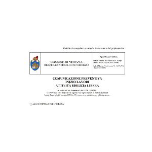Cilacomunicazione inizio lavori 950 00 iva venice for Comunicazione inizio lavori ristrutturazione bagno